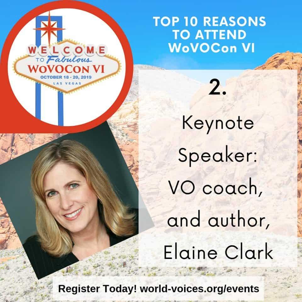 WoVo Keynote speaker Elaine Clark